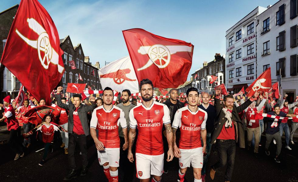 Febbre a 90: il kit home dell'Arsenal 2016-2017
