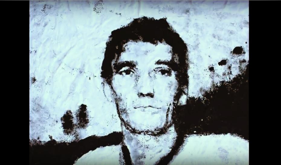 Marcello Rosas, il ritratto di Gigi Riva è dipinto con il pallone