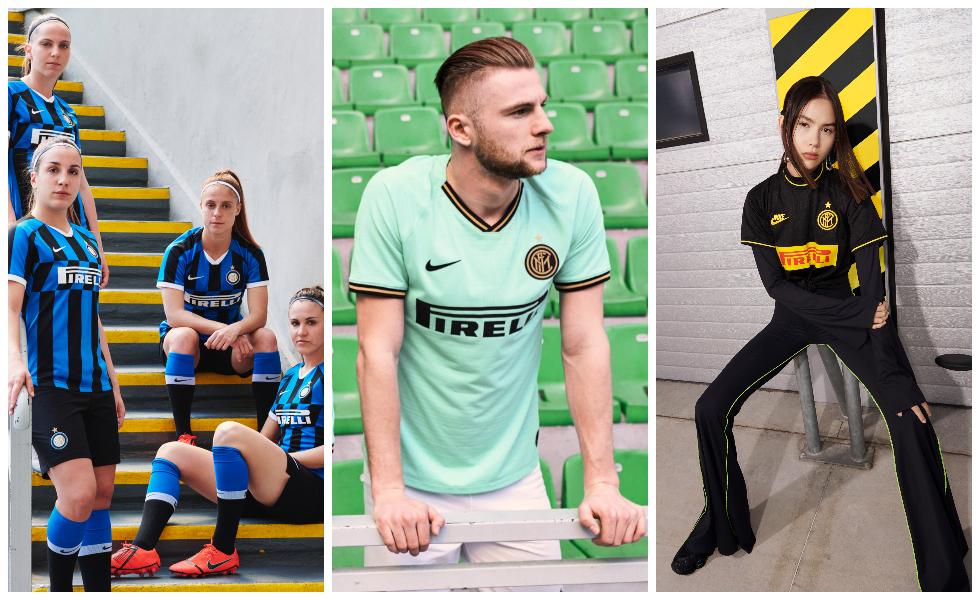 Nike, le tre maglie dell'Inter 2019/20