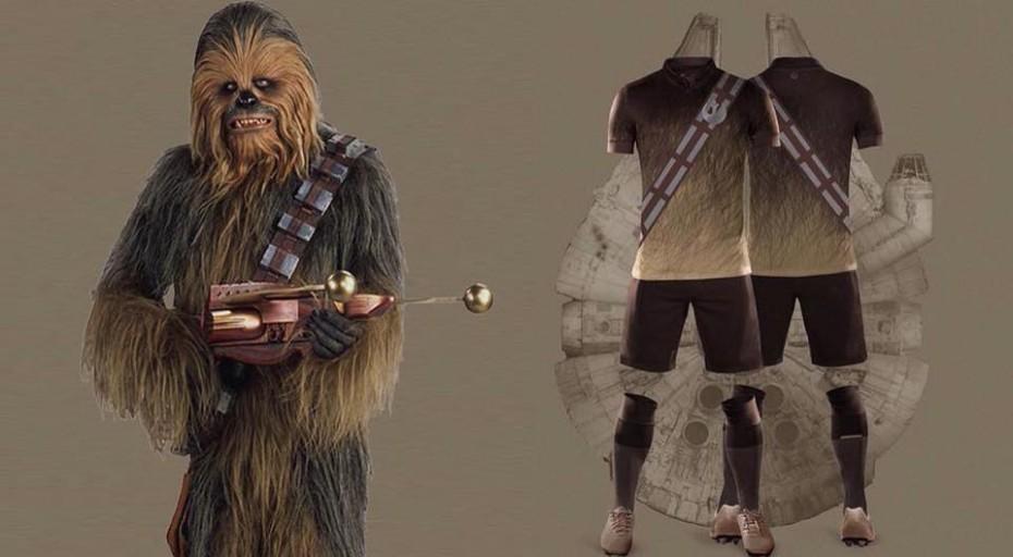 Nerea Palacios e le maglie <br> da calcio di Star Wars