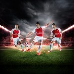 PUMA Launches the 2015-16 Arsenal Home Kit_Rosicky_Cazorla_Giroud_1