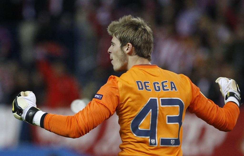 David de Gea con la sua prima maglia (n. 43) dell'Atletico Madrid