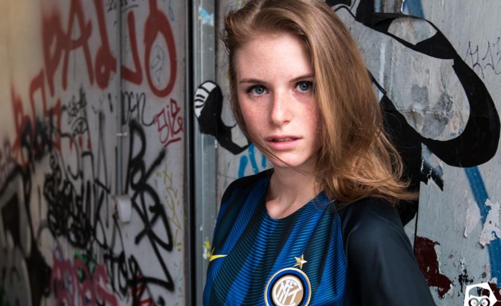 Marghe e la maglia dell'Inter 2016/2017