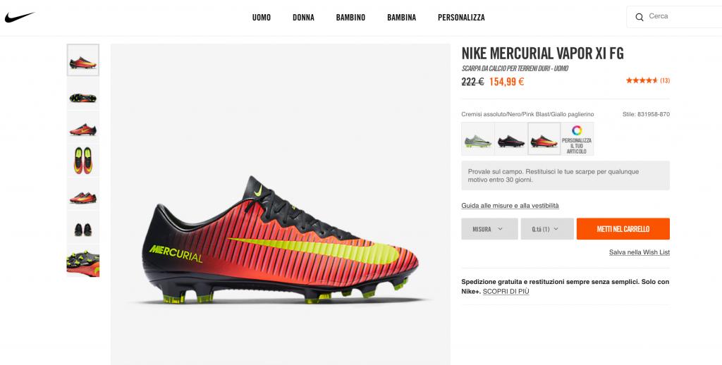 Nike Sconto Mercurial Vapor XI
