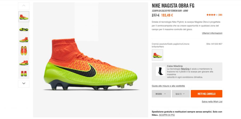 Sconti Nike Magista Obra