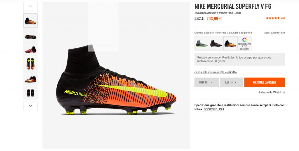 Sconto Nike Mercurial Superfly V