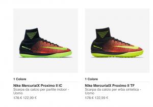 Nike Sconti Scarpe Calcetto