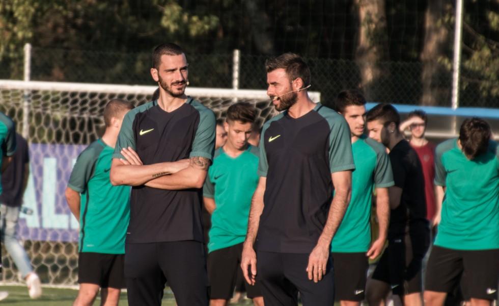 Nike Academy a Milano con Barzagli e Bonucci