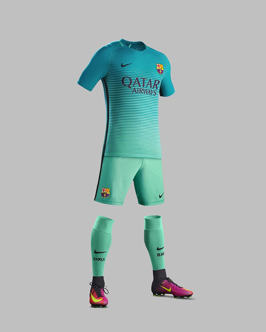 Nike lancia la terza maglia del barcellona 2016 17 - La terza porta ...