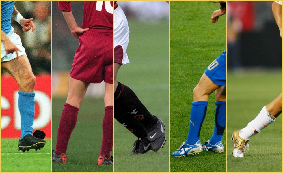 Totti40, le migliori 5 scarpe del capitano