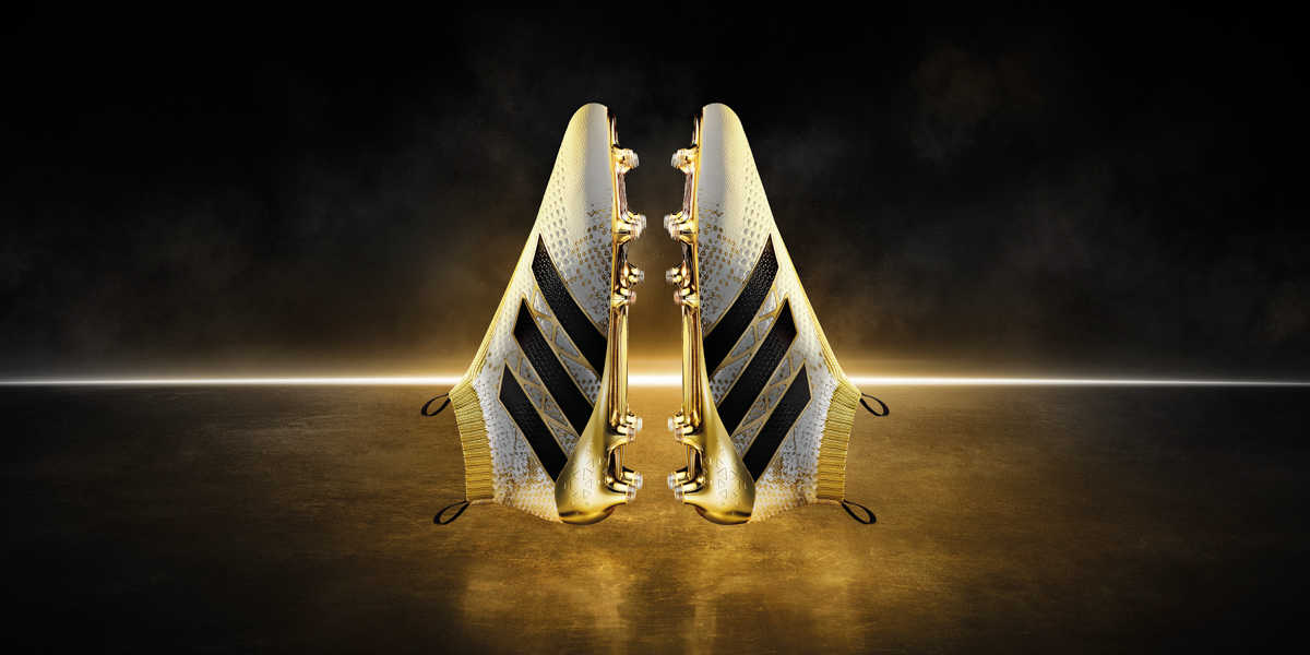adidas x16+ purechaos bianca and gold