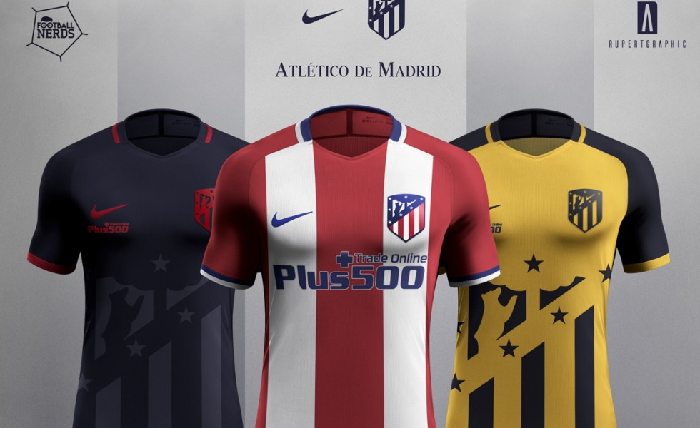 Atletico Madrid 2017/18 concept kit by Rupertgraphic