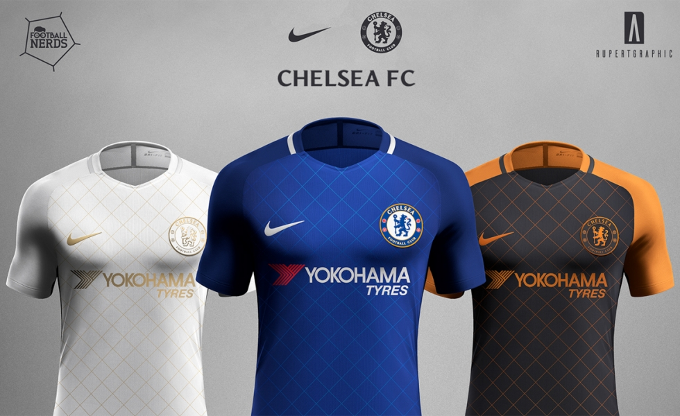 Chelsea, i primi concept kit Nike by Rupertgraphic