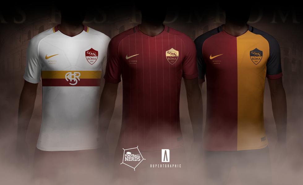 La maglia dei 90 anni della Roma. Il Concept Kit by Rupertgraphic