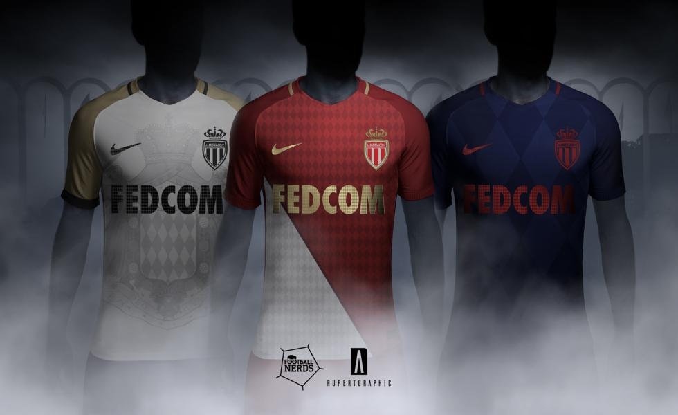 Seconda Maglia AS Monaco personalizzata