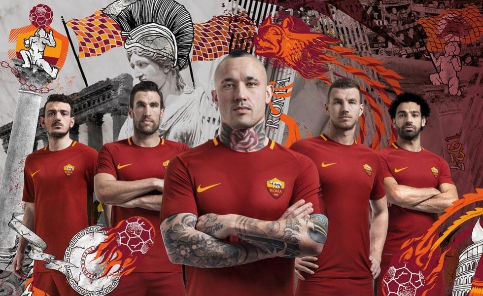 Roma, ecco la nuova maglia home 2017/18