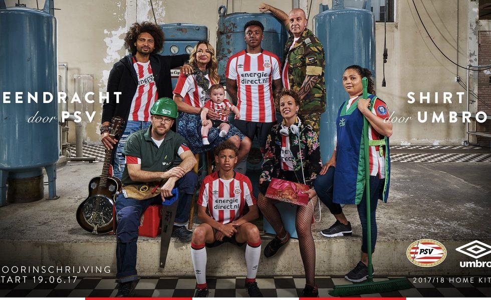 Umbro lancia la maglia Home del PSV 2017-18