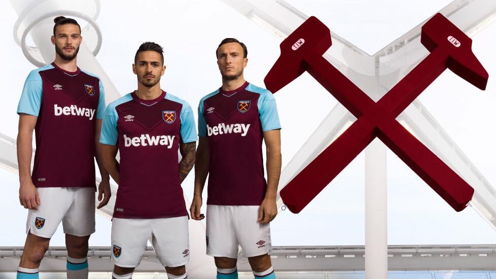 Umbro lancia la nuova maglia home del West Ham