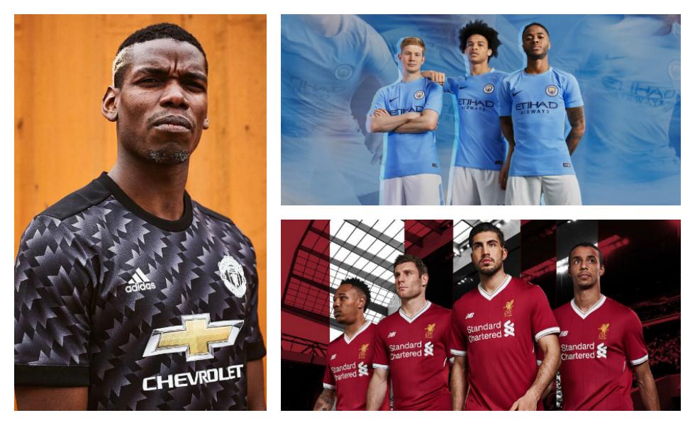 Tutte le maglie della Premier League 2017-2018