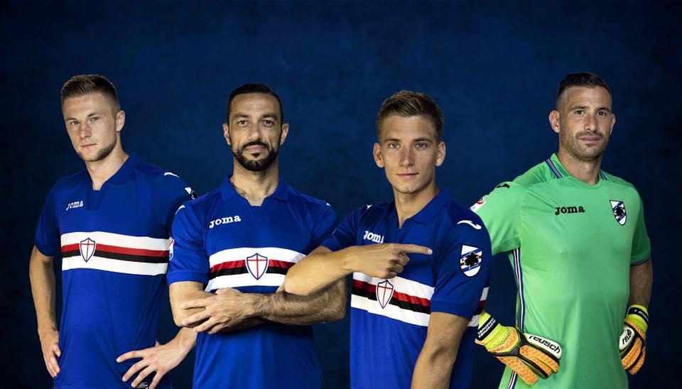 Maglie Serie A 2017/18 - Sampdoria