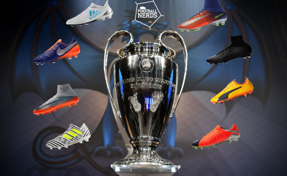 Finale di Champions League, le scarpe da calcio in campo a
