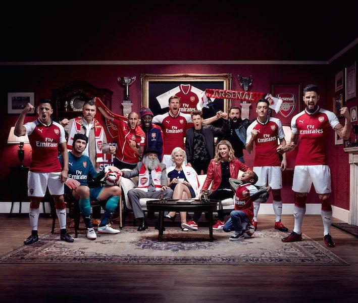 Puma svela la maglia home dell'Arsenal 2017-2018