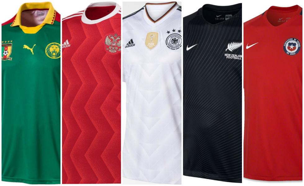 Tutte le maglie della Confederations Cup 2017
