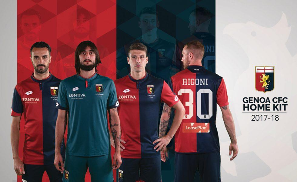 Lotto lancia le due maglie del Genoa 2017-2018