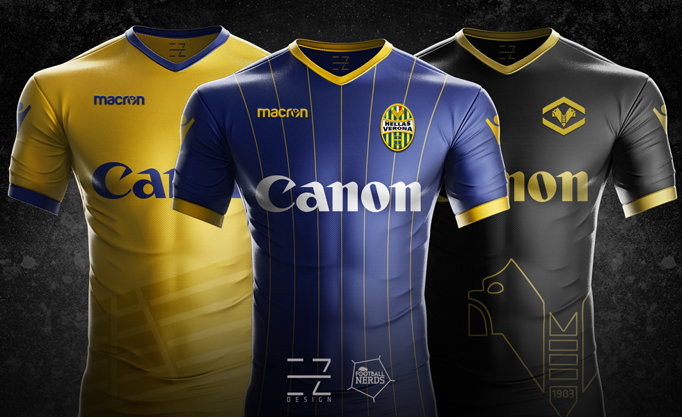Hellas Verona: le maglie 2017/18 vs i concept di EZETA Design