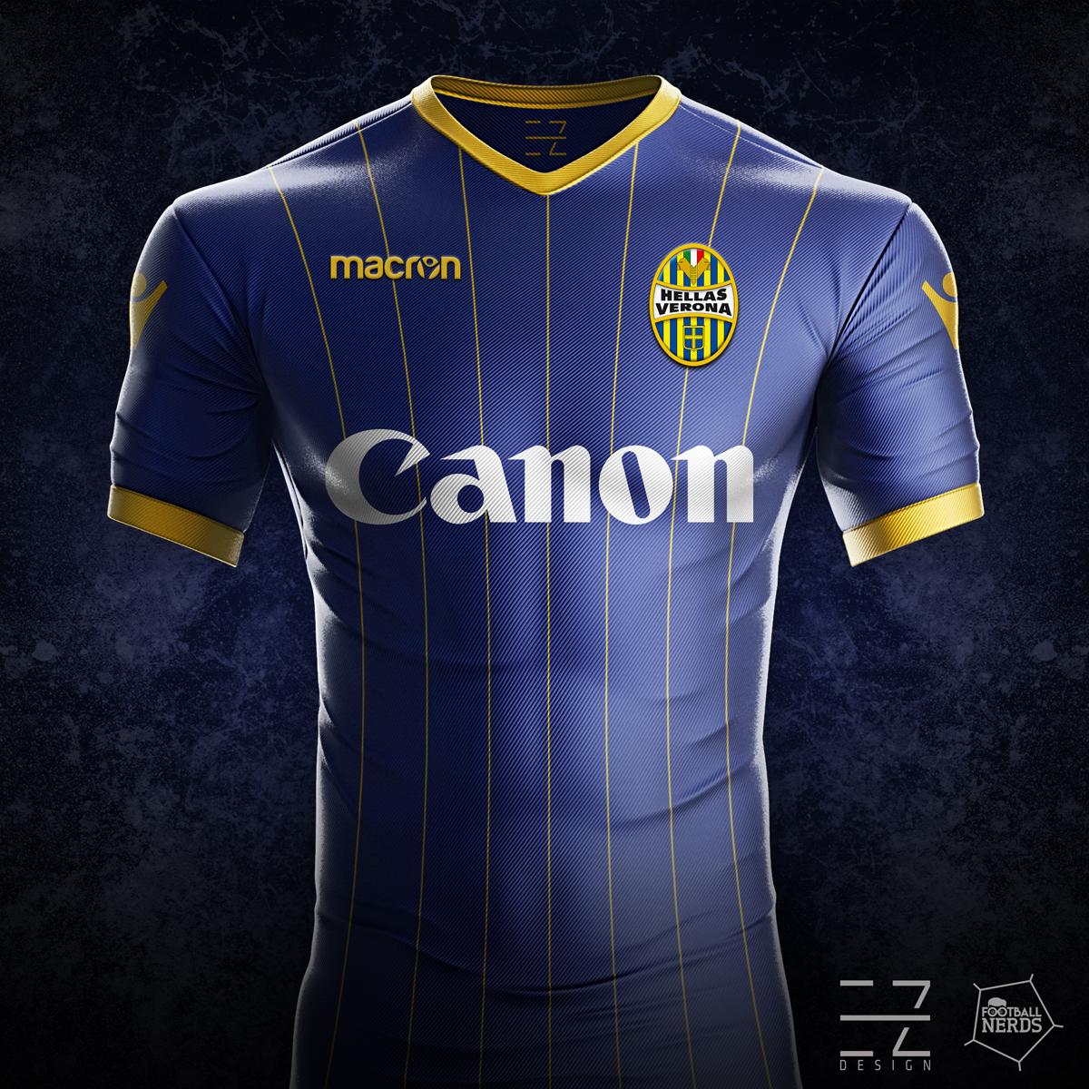 Hellas verona le maglie 2017 18 vs i concept di ez design for Uniform verona
