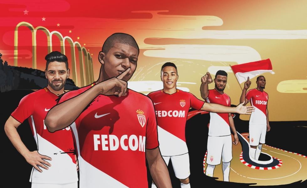 completo calcio AS Monaco nuova