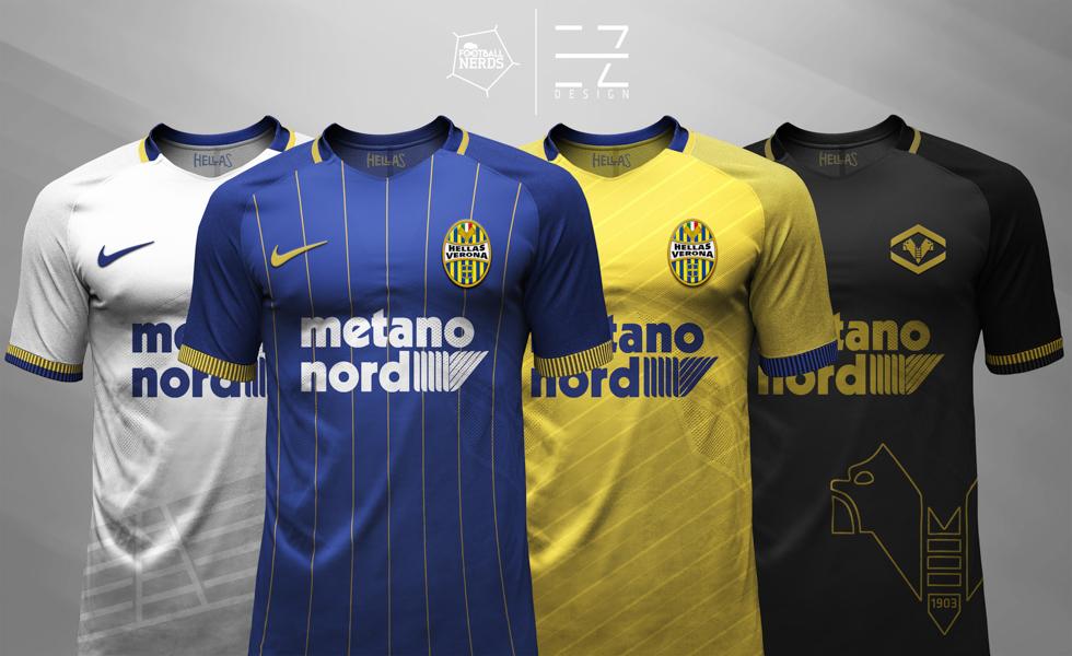 Hellas Verona: le maglie 2017/18 vs i concept di EZ Design