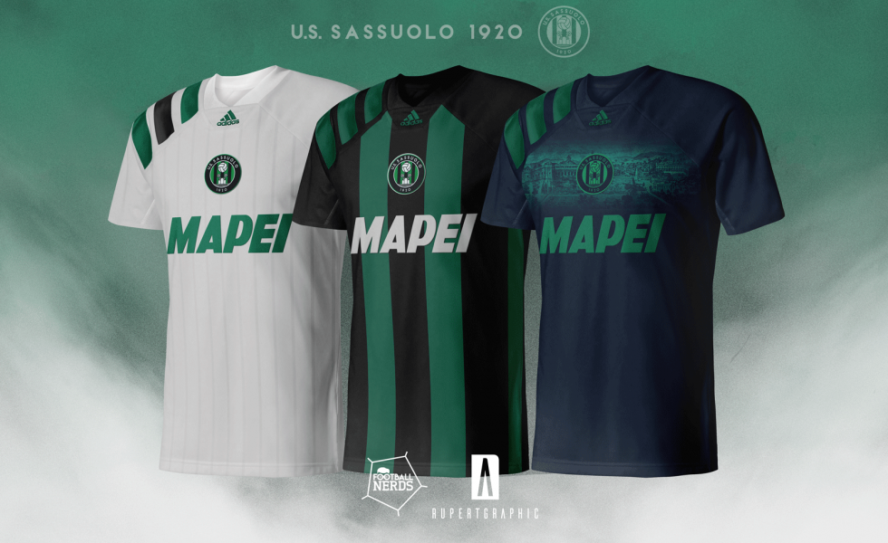 US Sassuolo, restyling stemma e concept kit by Rupertgraphic