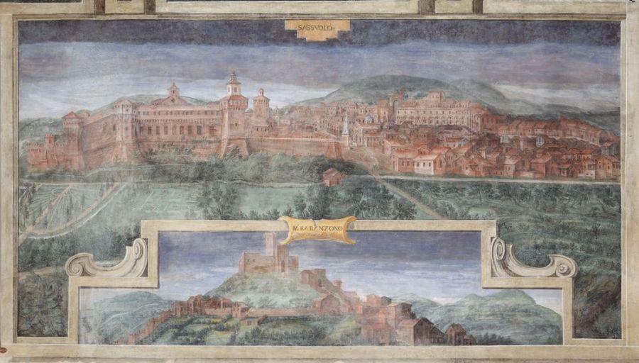 Cesare Baglione, Sassuolo, affresco 1587 - Castello di Spezzano, Fiorano Modenese (IBC)