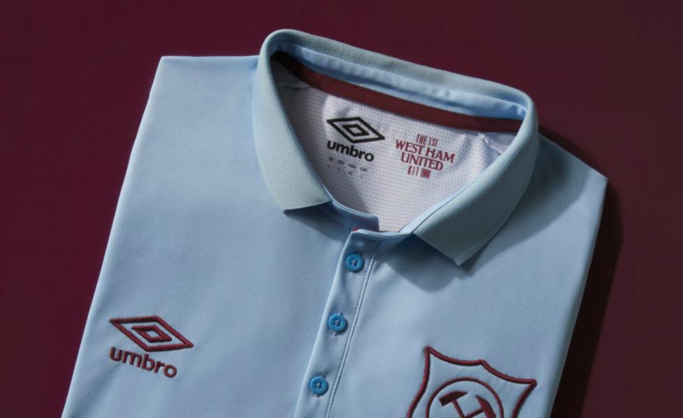 Umbro, scelta vintage per la terza maglia del West Ham
