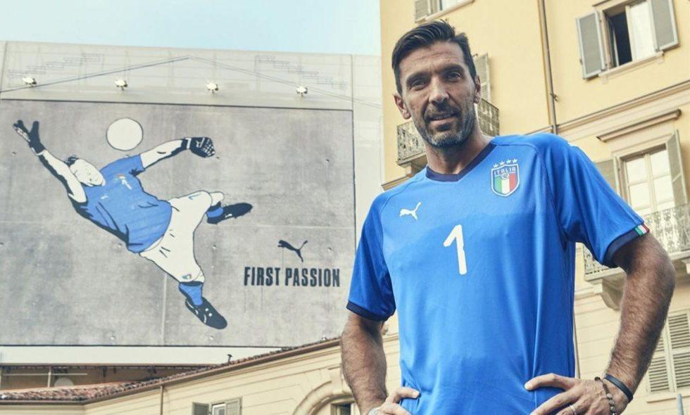 Puma, la nuova maglia home dell'Italia per Russia 2018