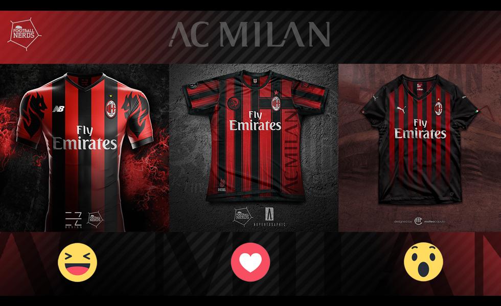 Concept Kit Challenge: la maglia del Milan 2018