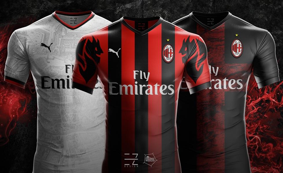 divisa AC Milan completini