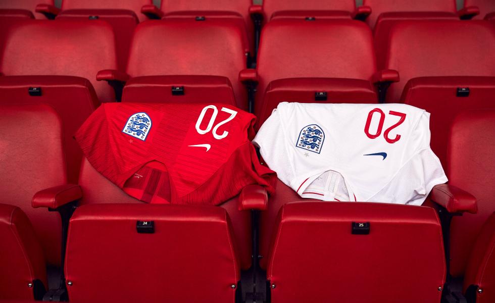 Nike, ecco le maglie dell'Inghilterra per Russia 2018