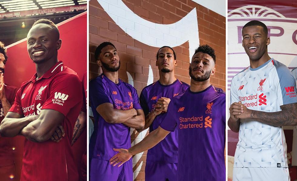 New Balance rivela le maglie del Liverpool 2018 2019