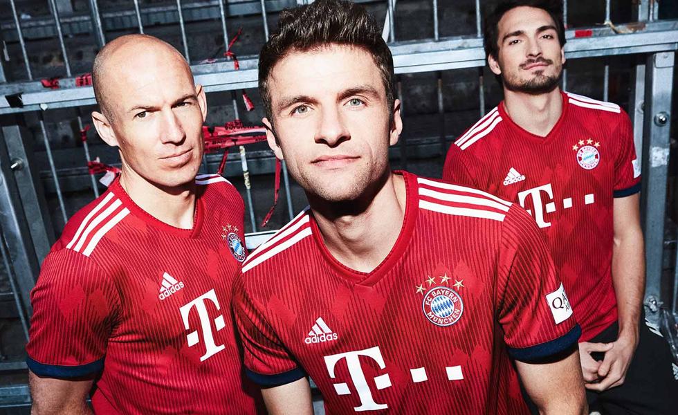 Adidas: rilasciata la maglia home del Bayern Monaco 2018 2019