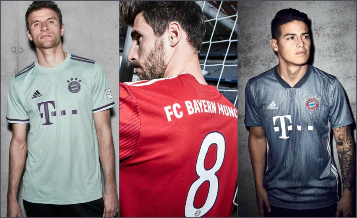 Le tre maglie Adidas del Bayern Monaco 2018/19