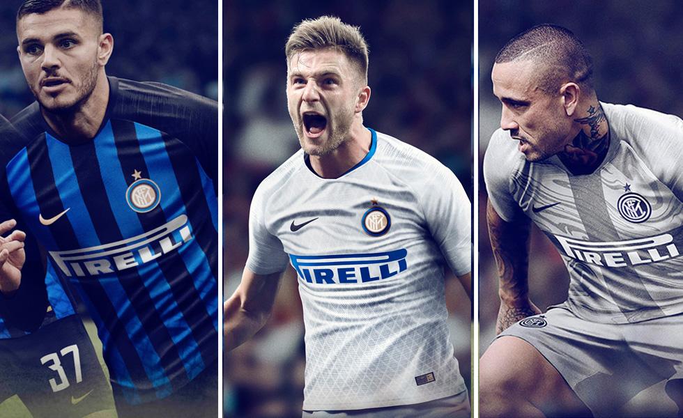 Nike, le tre maglie dell'Inter 2018/2019