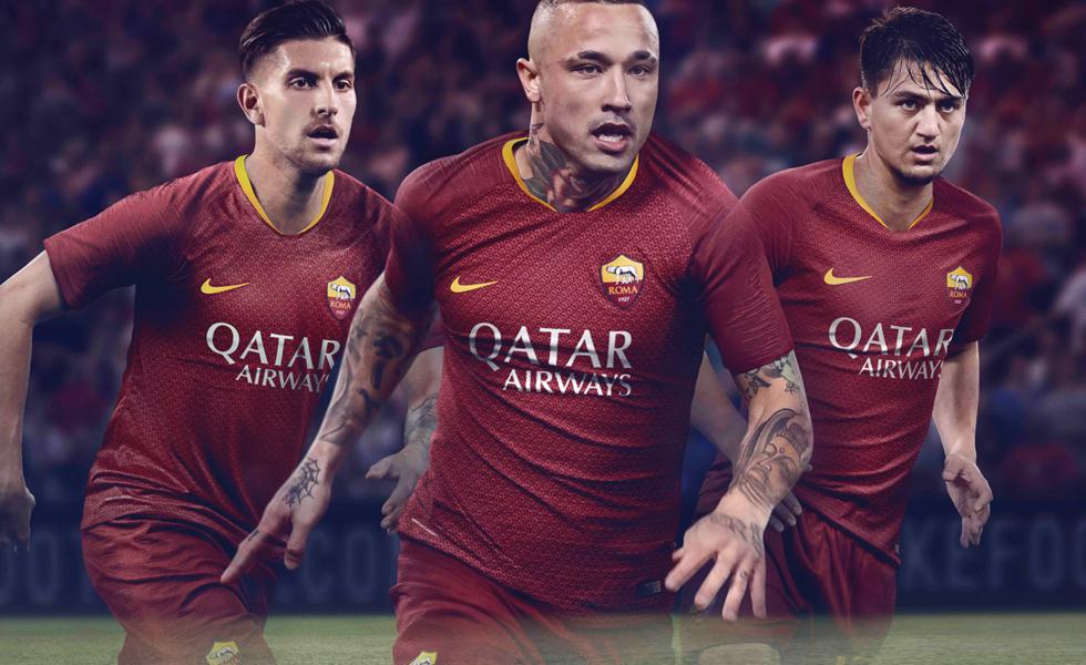 Nike svela la nuova maglia della Roma 2018/19