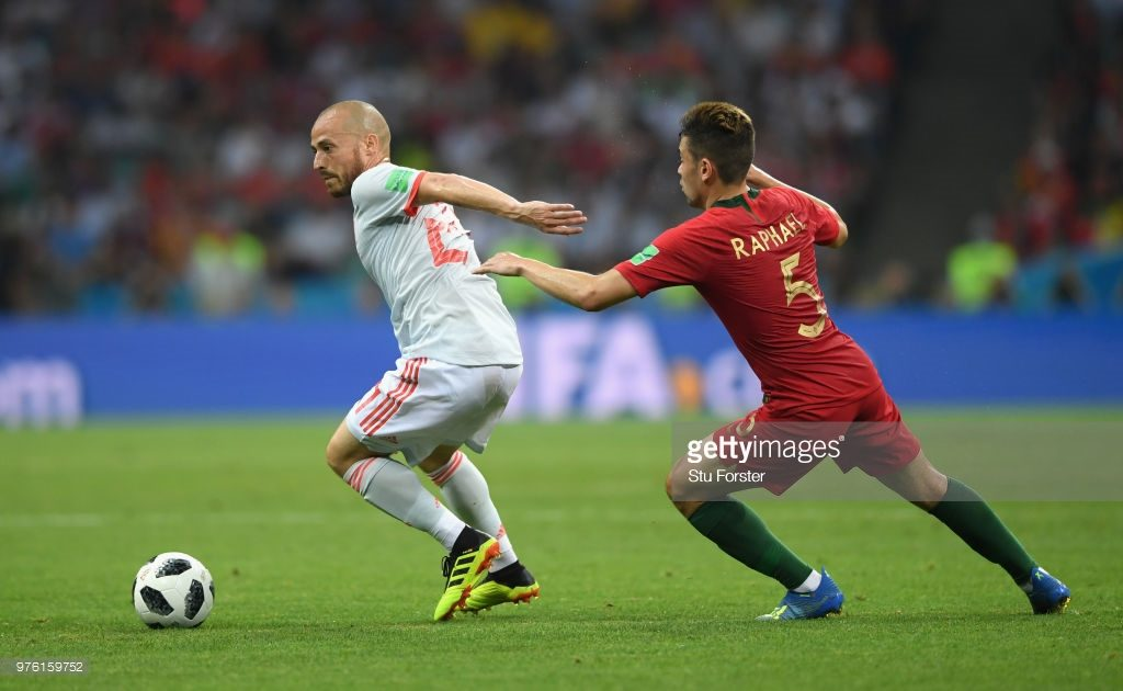during the 2018 FIFA World Cup Russia group B match between Portugal and Spain at Fisht Stadium on June 15, 2018 in Sochi, Russia.