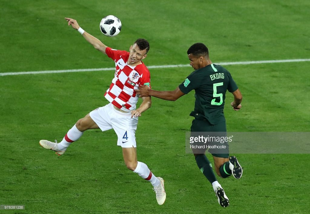 during the 2018 FIFA World Cup Russia group D match between Croatia and Nigeria at Kaliningrad Stadium on June 16, 2018 in Kaliningrad, Russia.