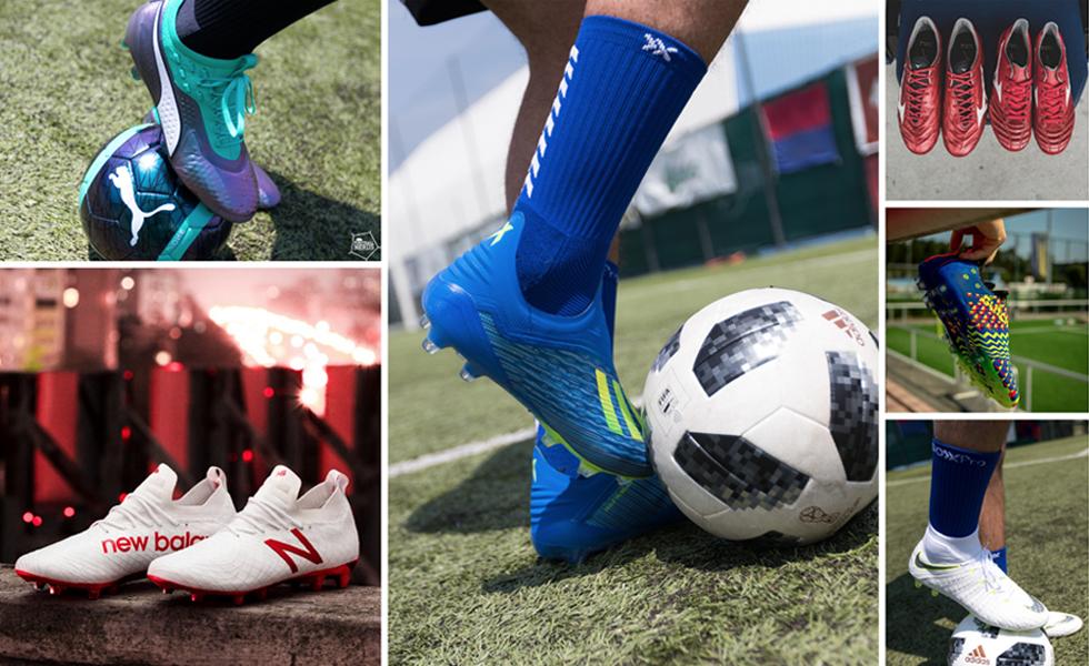 Tutte le scarpe da calcio che vedremo a Russia 2018