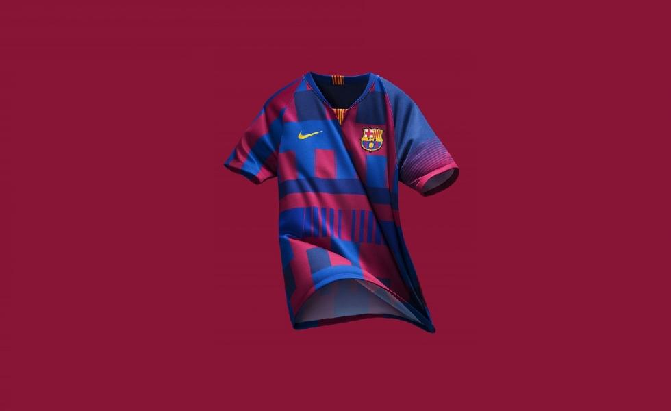 Maglia Barcellona Del I Anni Con Nike Per 20 La uK5l1TFJc3
