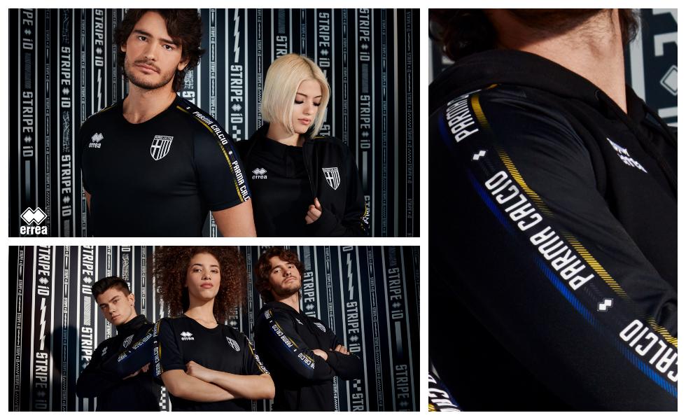 La collezione Erreà Stripe iD del Parma