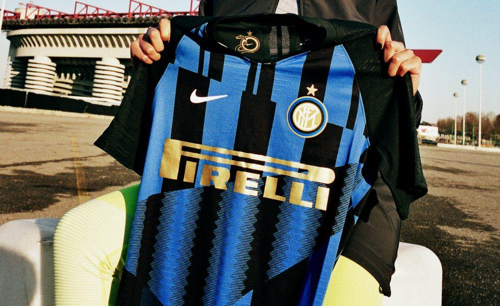 Nike, la maglia mashup dell'Inter per il Derby